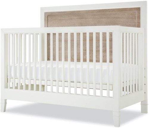 Smartstuff #myRoom Two Tone Convertible Crib with Toddler Rail