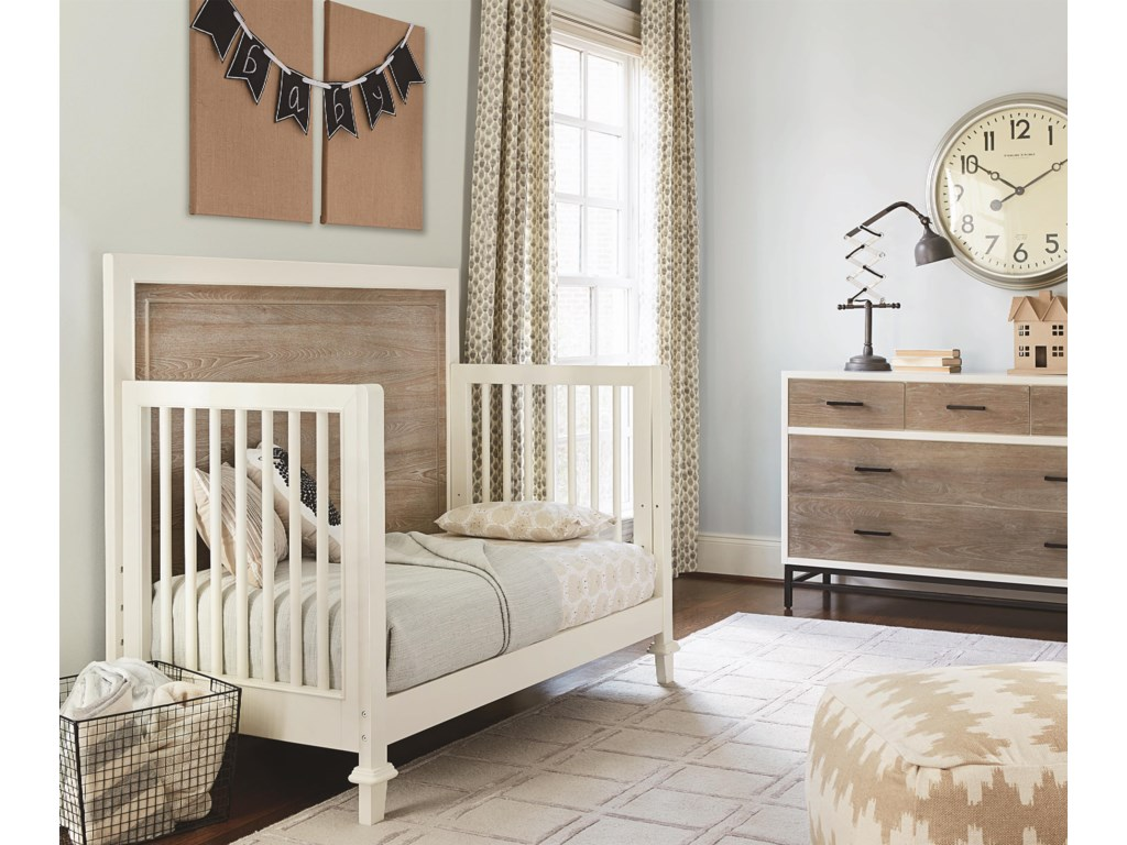 Crib Converts to Daybed with Additional Component Purchase