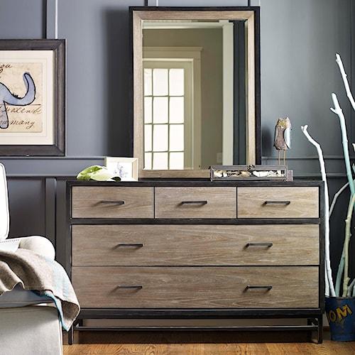 Smartstuff #myRoom 5-Drawer Dresser and Mirror Set