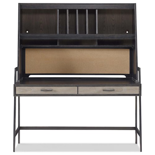 Smartstuff #myRoom Metal Frame Desk with Hutch and Corkboard Panel