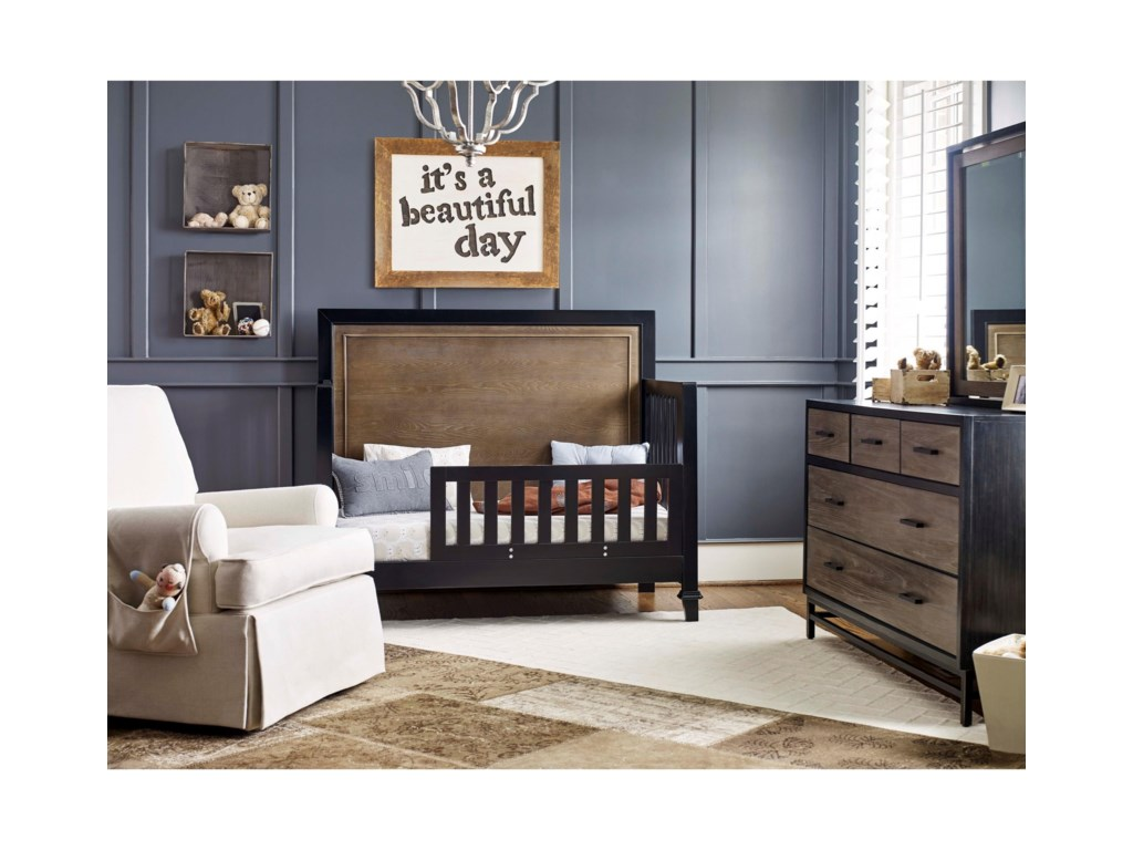Crib Converts to Toddler Bed with Additional Component Purchase
