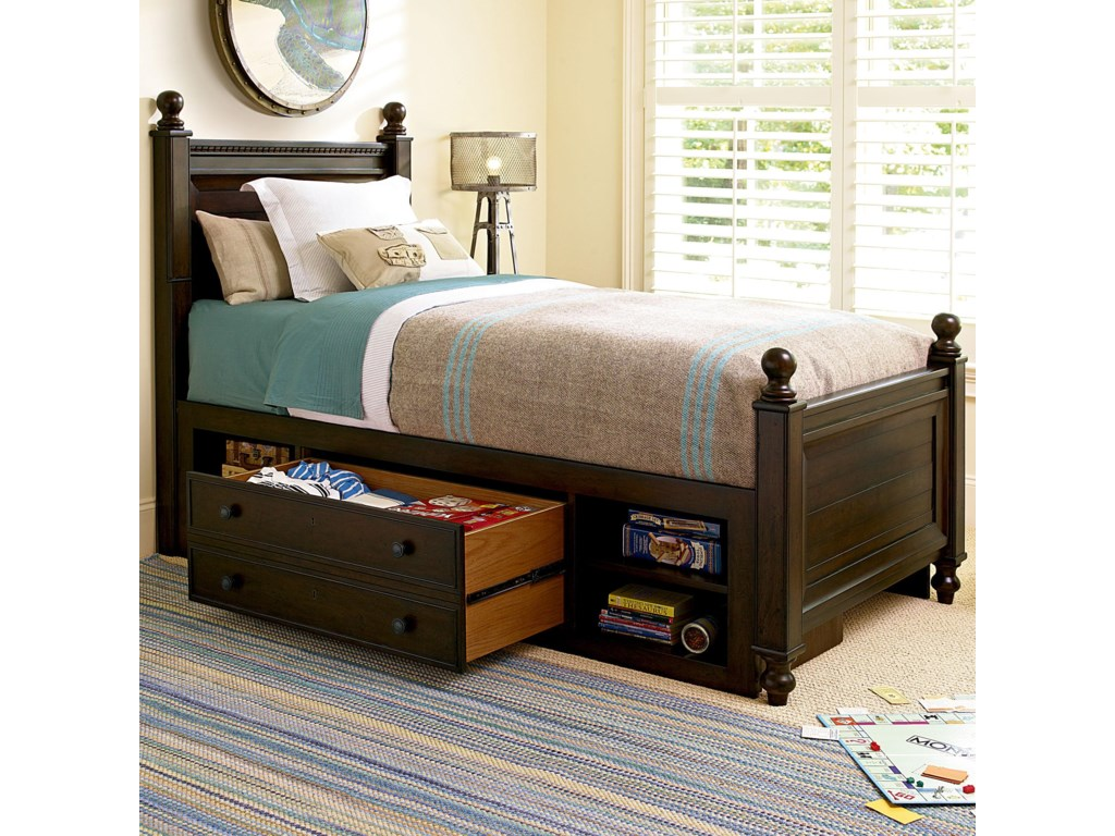Smartstuff Paula Deen - GuysTwin Guy's Reading Bed with Storage Unit