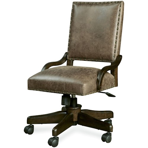 Smartstuff Paula Deen - Guys Henry's Leather Desk Chair with Caster Legs