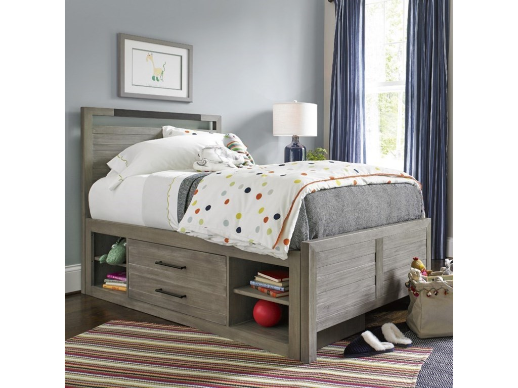 Morris Home ScrimmageFull Panel Bed with Storage Unit
