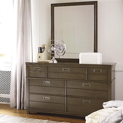 Smartstuff Varsity 6-Drawer Dresser and Mirror Set