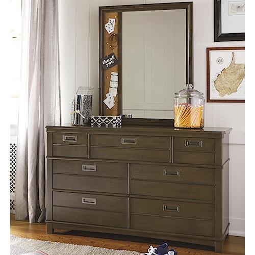 Smartstuff Varsity 6-Drawer Dresser with Memory Mirror