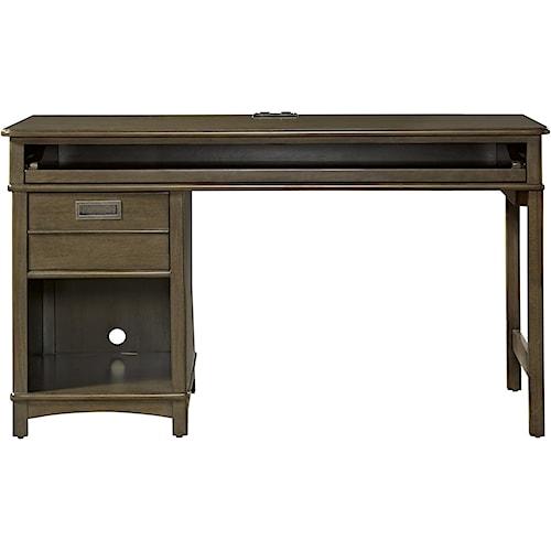Smartstuff Varsity Single Pedestal Desk with Charging Station