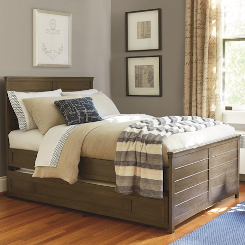 Smartstuff Varsity Twin Reading Bed with Flex LED Light and Trundle