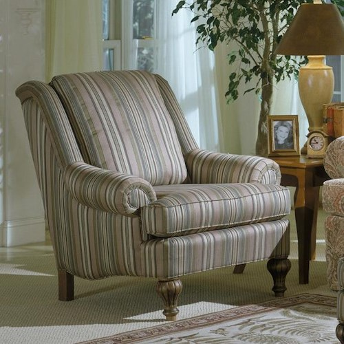 Smith Brothers 972 Upholstered Chair with Exposed Wood Feet