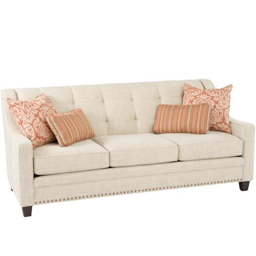 Smith Brothers 203  Transitional Sofa With Tufting
