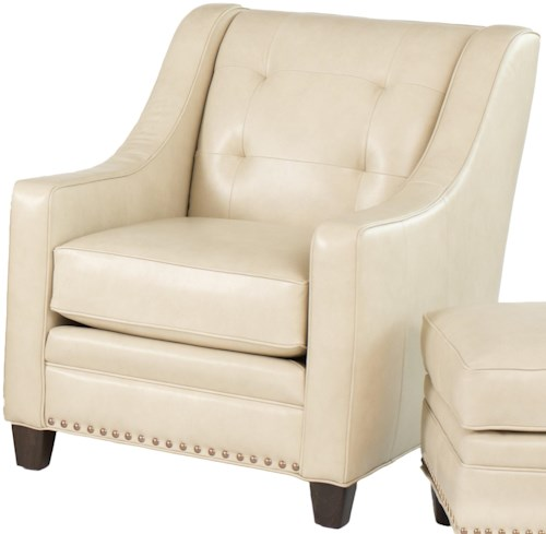 Smith Brothers 203L Transitional Stationary Chair with Tufting