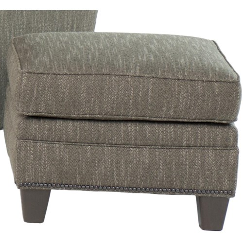 Smith Brothers 203  Transitional Ottoman With Nailhead Trim