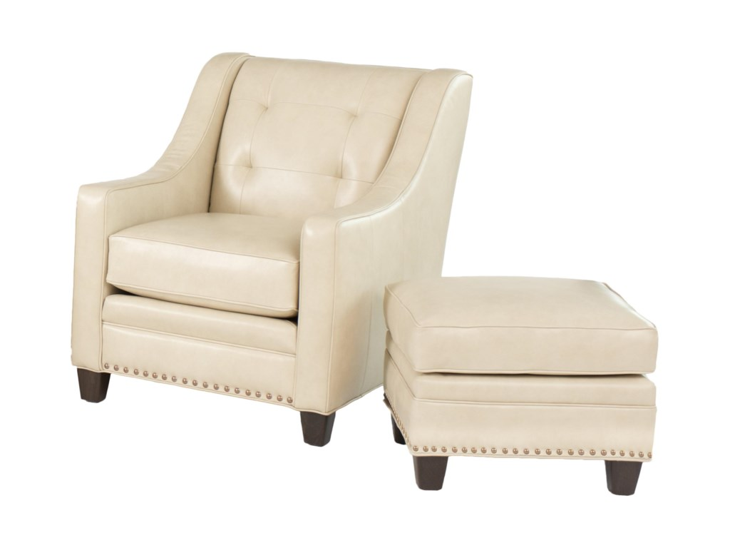 Smith Brothers 203LTransitional Chair with Ottoman