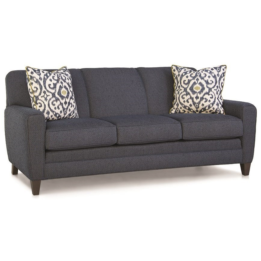 Smith Brothers 225 Sofa With Tapered Track Arms Turk