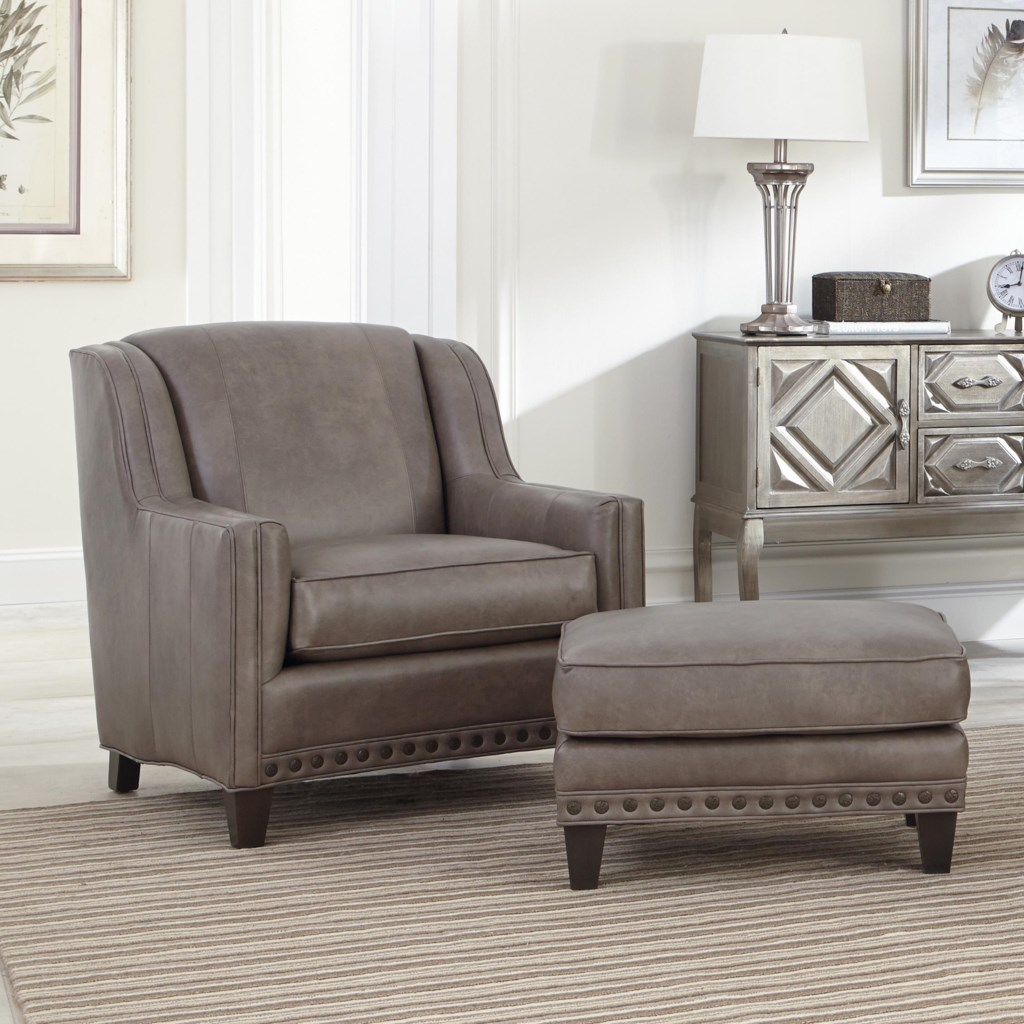 Upholstered Chair And Ottoman smith brothers 227 upholstered chair and ottoman combination