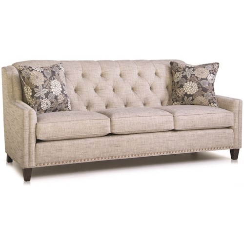 Smith Brothers 228 Traditional Sofa with Tufted Back