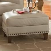 Smith Brothers 228 Traditional Ottoman with Nailhead Trim