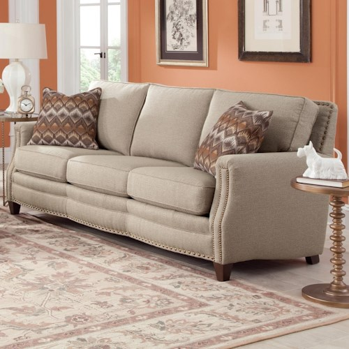 Smith Brothers 231 Traditional Sofa with Nailhead Trim