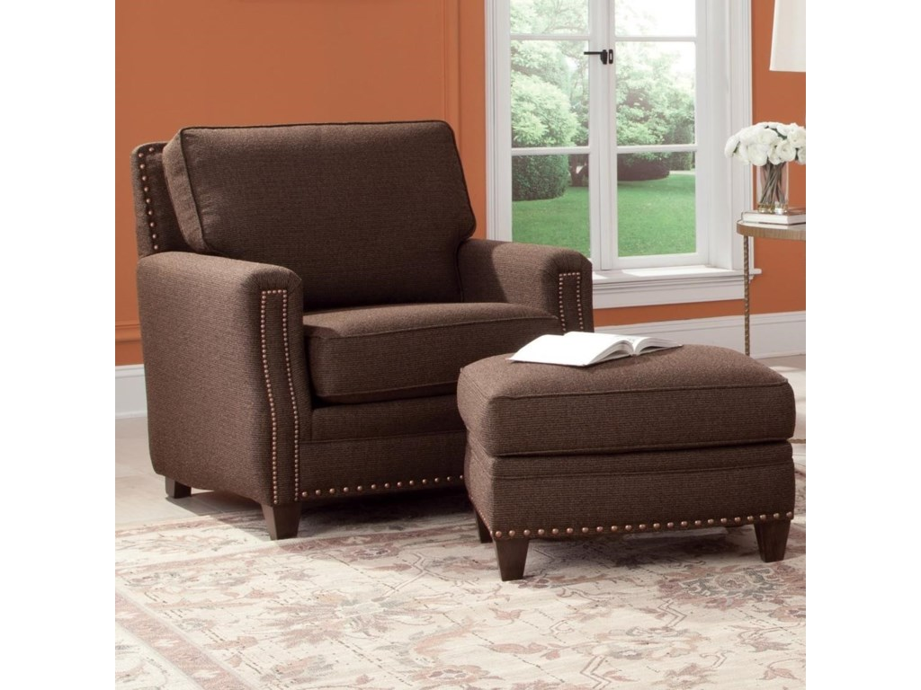 Smith Brothers 231Chair and Ottoman Set
