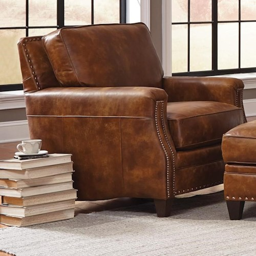 Smith Brothers 231 Traditional Chair with Paneled Track Arms