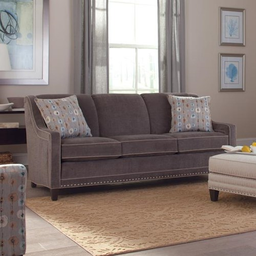 Smith Brothers 233 Traditional Sofa with Track Arms and Nailhead Trim