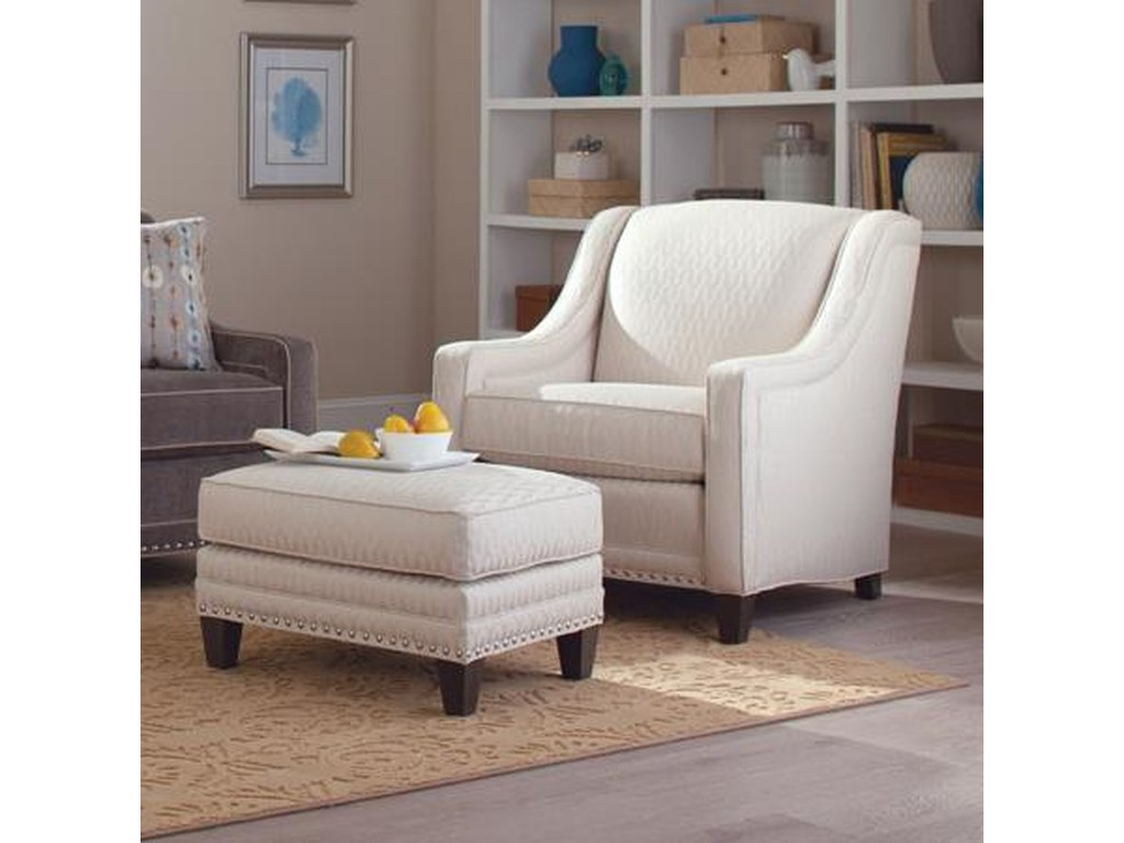 Smith Brothers 233Chair and Ottoman Set
