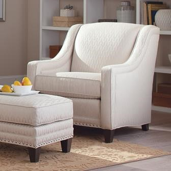 Smith Brothers 233 Traditional Chair with Nailhead Trim