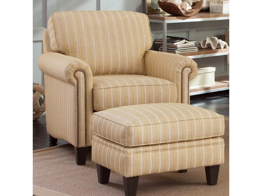 Smith Brothers 234Chair and Ottoman Set