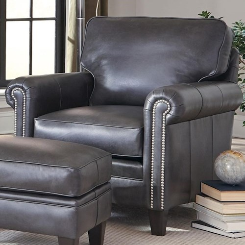 Smith Brothers 234 Traditional Chair with Nailhead Trim