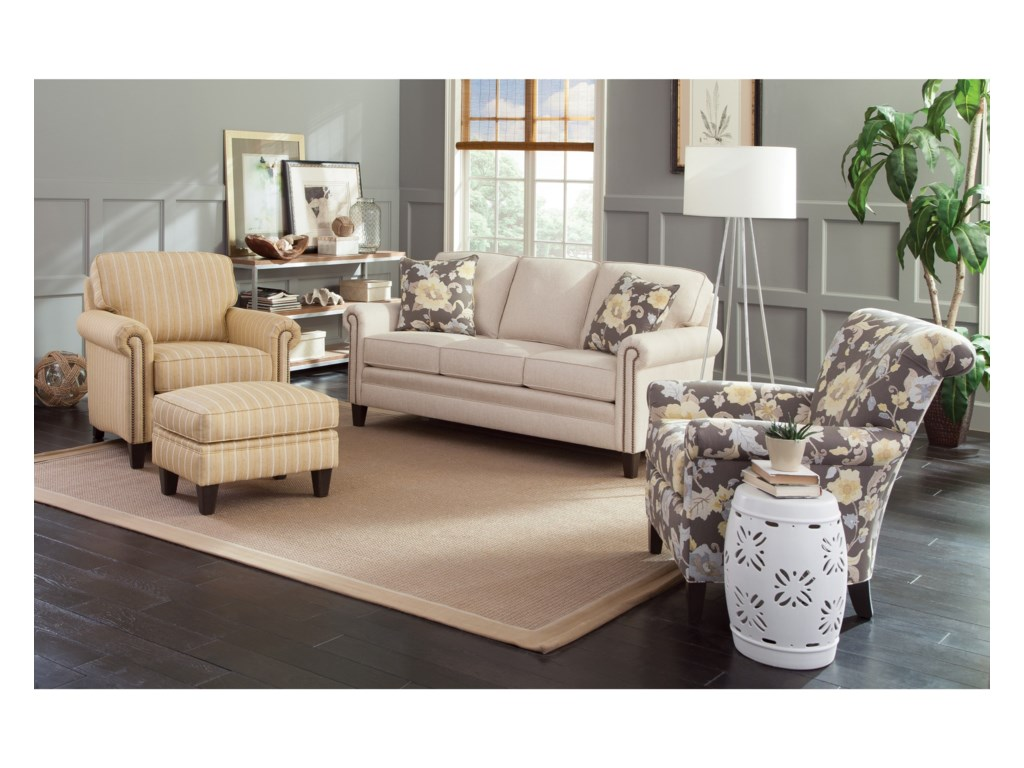 Group Shown with 961 Accent Chair