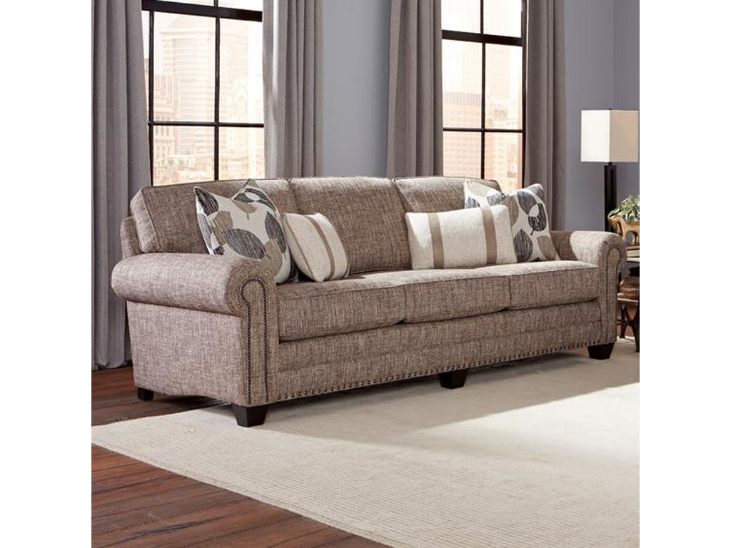 Smith Brothers 235 235 13 Traditional Sofa With Nailhead Trim And