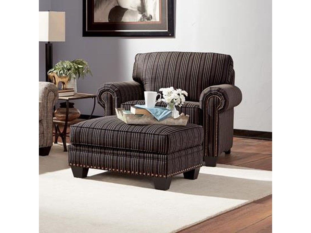 Smith Brothers 235Chair and Ottoman