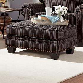 Smith Brothers 235 Traditional Stlye Chair Ottoman with Nailhead Trim