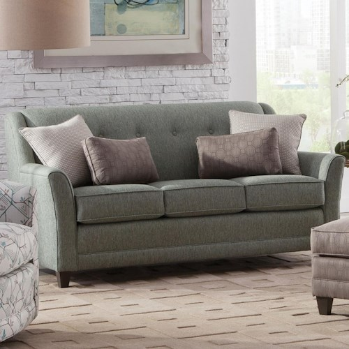 Smith Brothers 236 Casual Mid-Size Sofa with Flared Arms