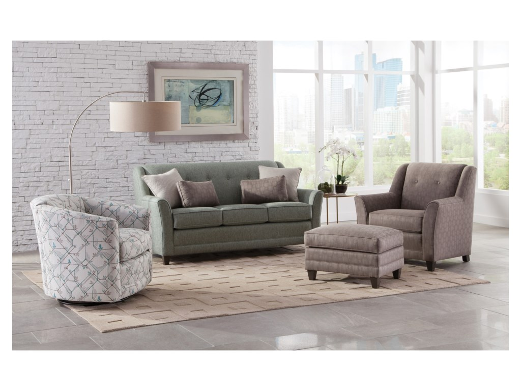 Smith Brothers 236Mid-Size Sofa