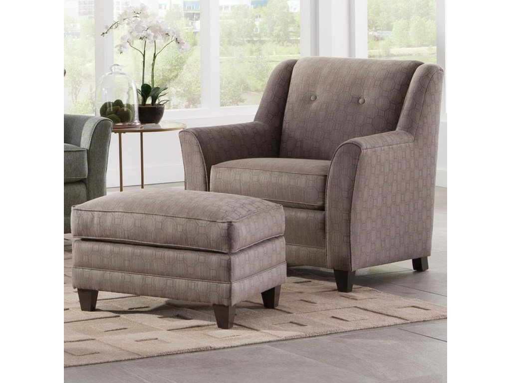 Smith Brothers 236Chair and Ottoman Set