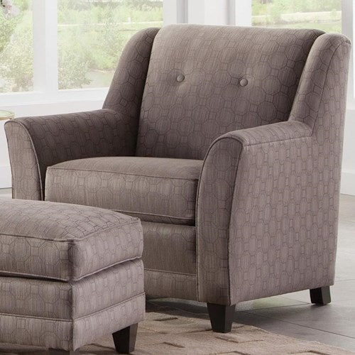 Smith Brothers 236 Casual Chair with Flared Arms