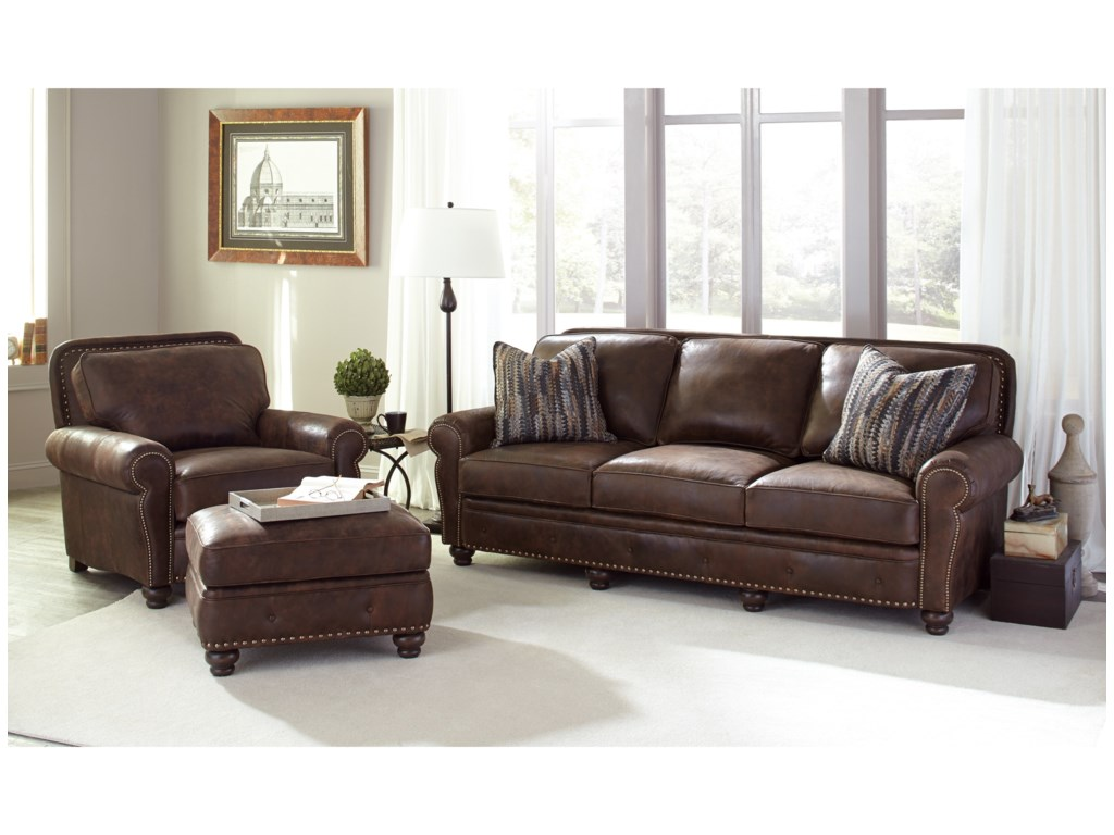 Smith Brothers 237Chair and Ottoman Set