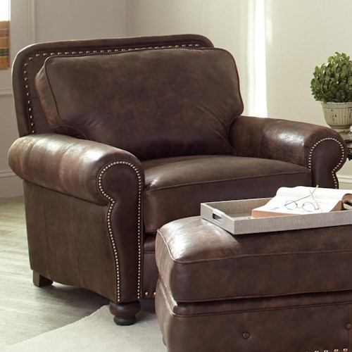 Smith Brothers 237 Traditional Chair with Rolled Arms
