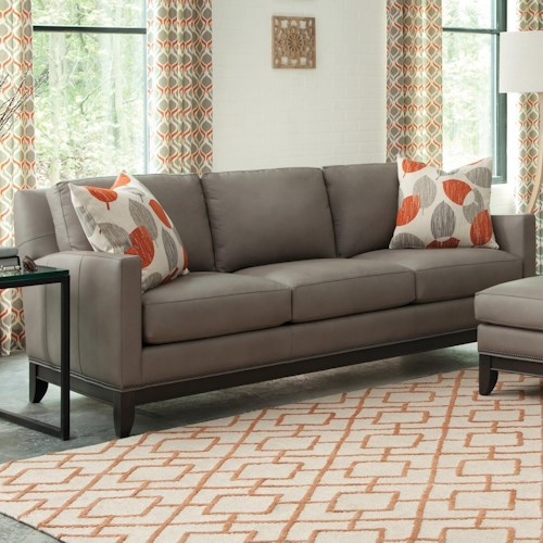 Smith Brothers 238 Transitional Sofa with Nailhead Trimmed Base Rail