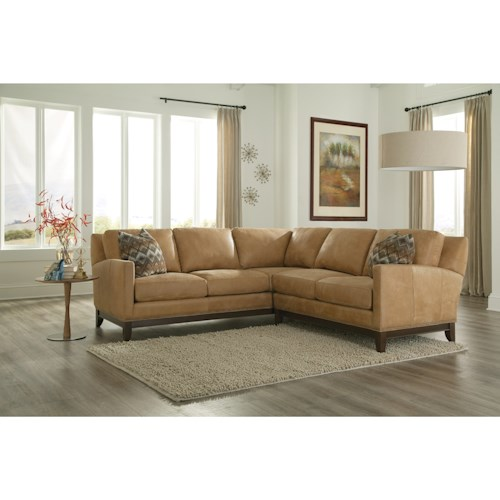 Smith Brothers 238 Transitional Sectional Sofa with Track Arms