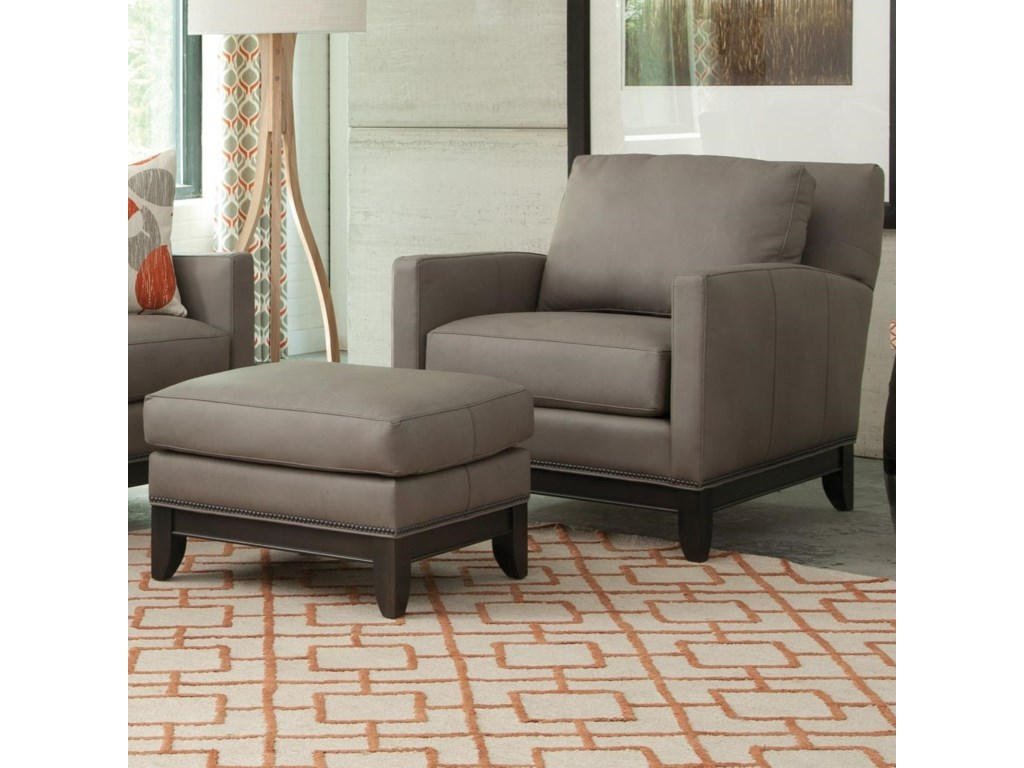 Smith Brothers 238Chair and Ottoman Set