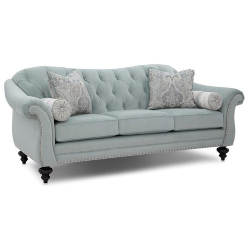 Smith Brothers 239 Traditional Sofa with Nailhead Trim and Tufting