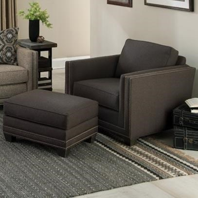 Smith Brothers 240Chair and Ottoman Set
