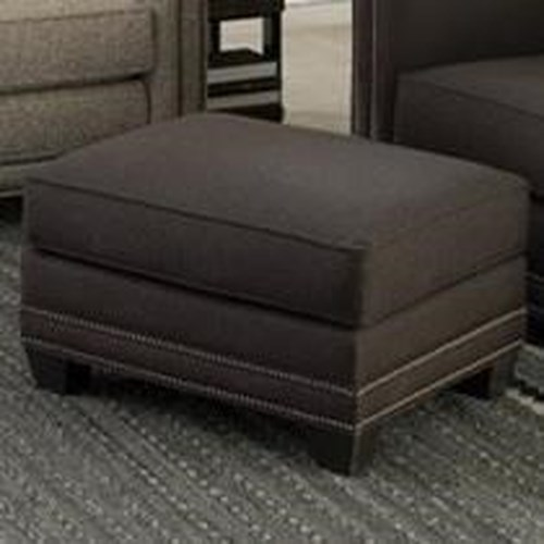 Smith Brothers 240 Transitional Ottoman with Nailhead Trim