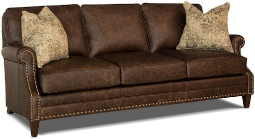 Smith Brothers 241 Traditional Sofa with Scooped Arms