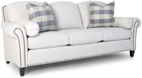 Smith Brothers 246 Transitional Sofa with Nailhead Trim