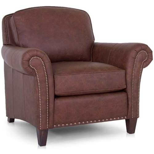 Smith Brothers 246 Transitional Chair with Nailhead Trim