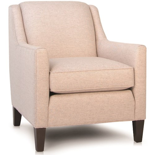 Smith Brothers 248 Contemporary Chair with Track Arms