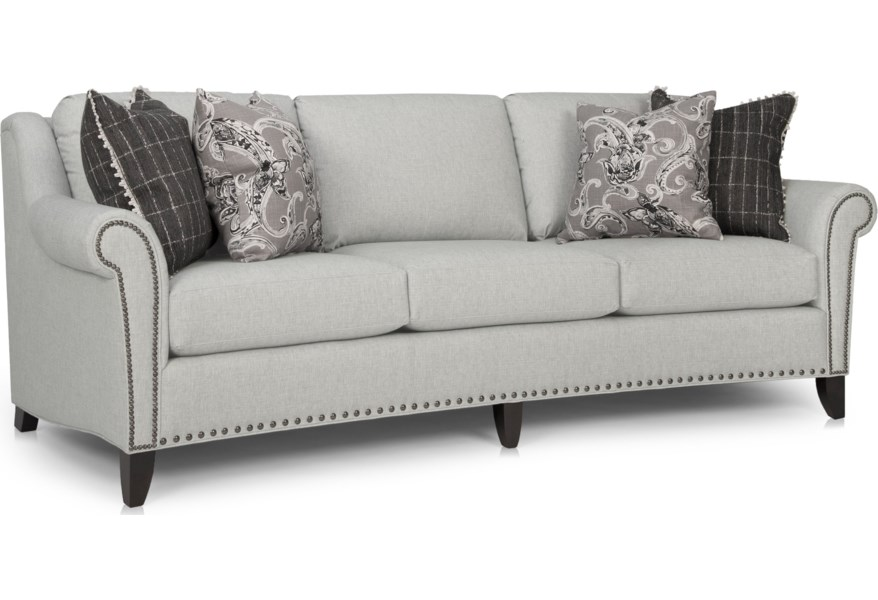 Large Sofa With Nailhead Trim